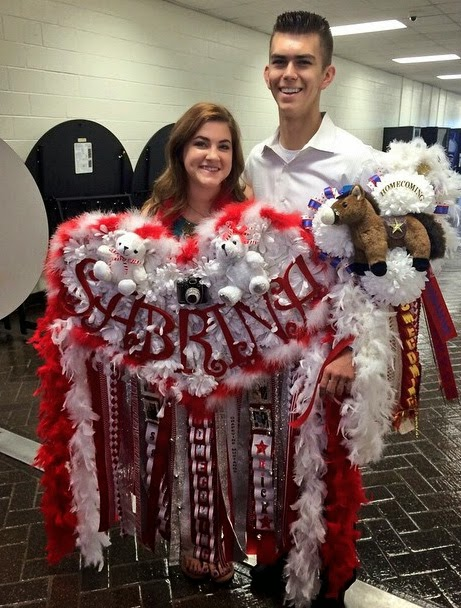 Diaries Of An Older Mom Gaudy High School Homecoming Mums A