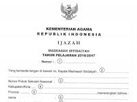 Juknis Penulisan Blanko Ijazah Madrasah ( MI/MTS/MA ) Tahun Ajaran 2016/2017