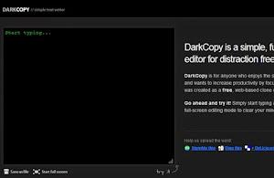 DarkCopy Text Editor