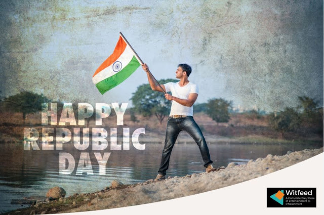 REPUBLIC DAY  26 JANUARY 2021 I INDIA I WFEED I BOY HOSTING A FLAG
