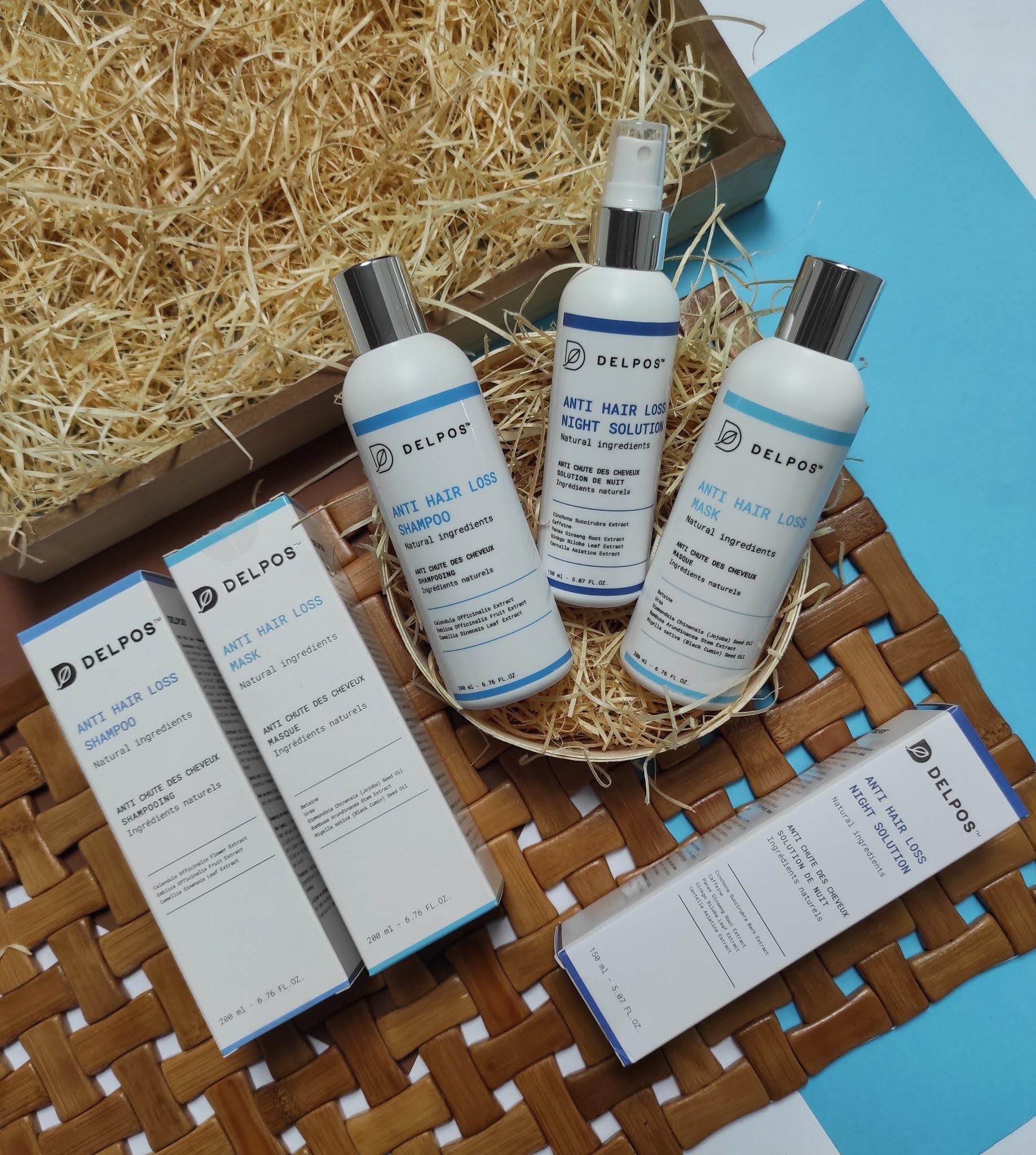 DELPOS - kosmetyki przeciw wypadaniu włosów - recenzja szamponu, odżywki i wcierki.
