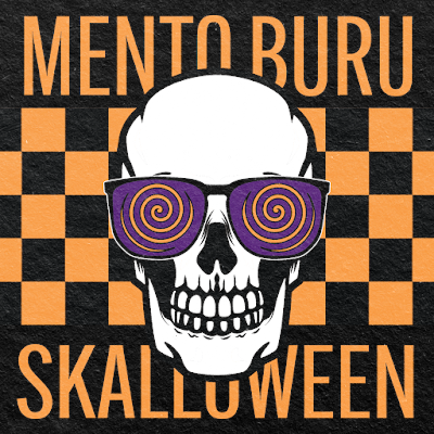 The cover features a skull wearing glasses with swirling, hypnotic images in the lenses.