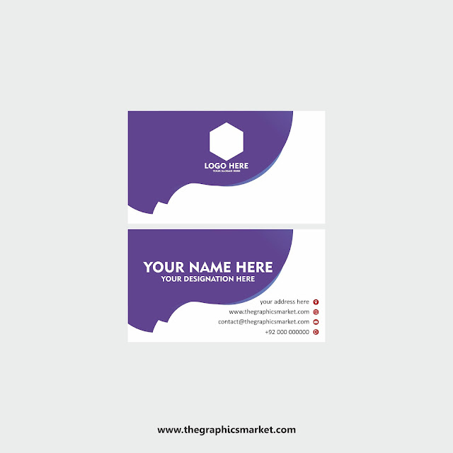 the graphics market, business card design template