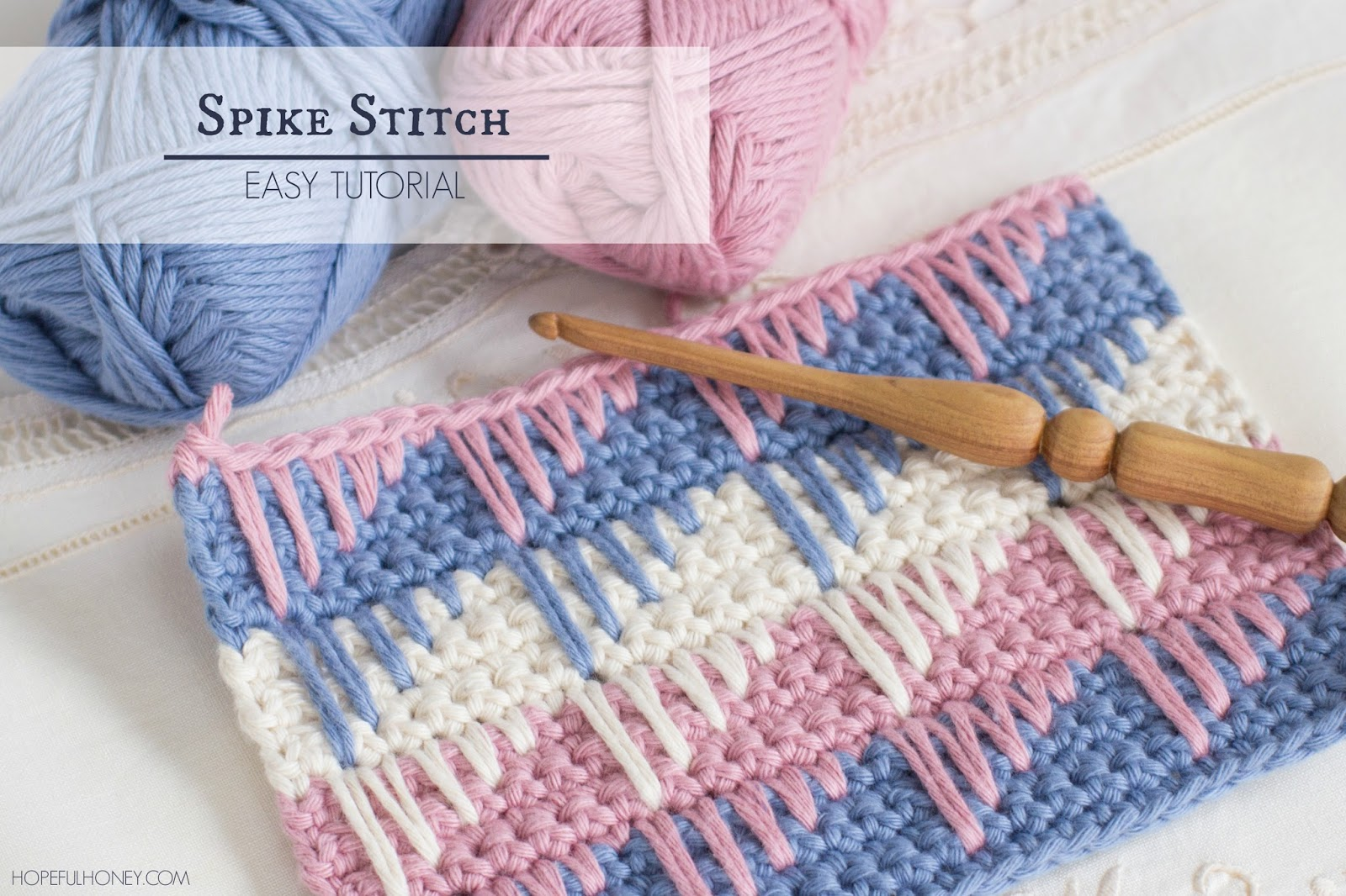 Crocheting Tutorials : ... , Crochet, Create: How To: Crochet The Spike Stitch - Easy Tutorial