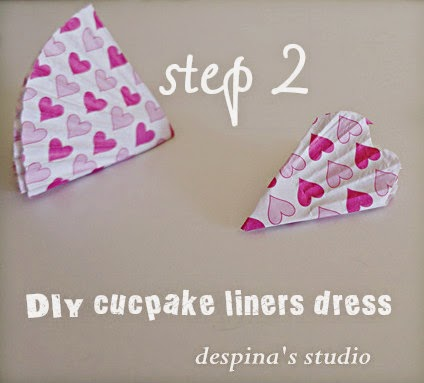 DIY cucpake liners dress step 2