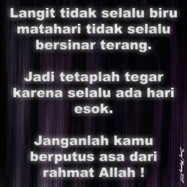 kata mutiara islam jangan berputus asa dari rahmat Allah