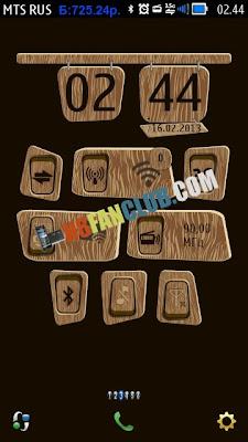 Big Analog Clock Widget Skin by dima-zh1 for Nokia N8 & Belle