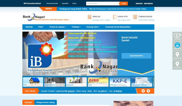 Cara Daftar Internet dan SMS Banking Bank Nagari