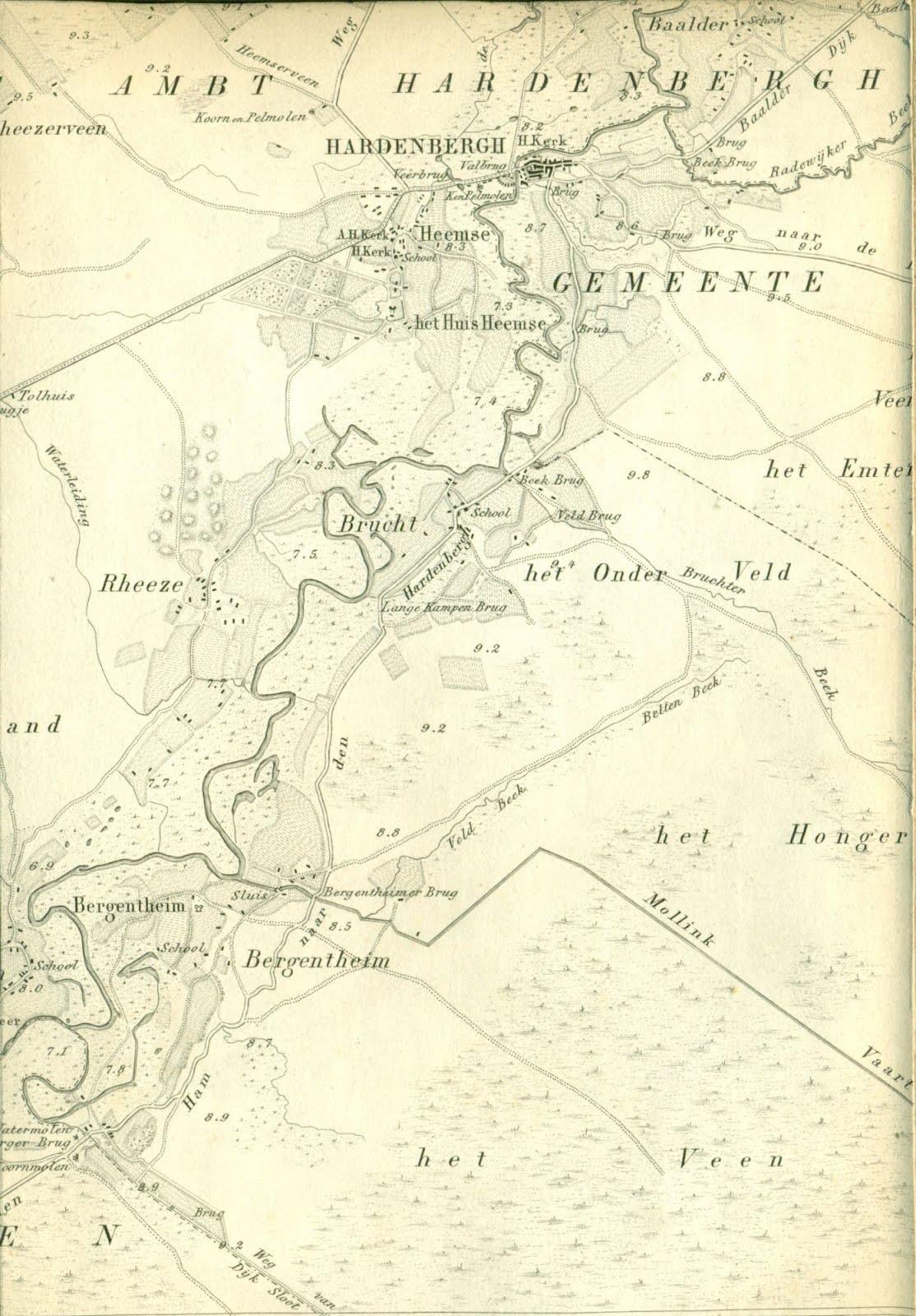 kaart oldenzaal en omgeving