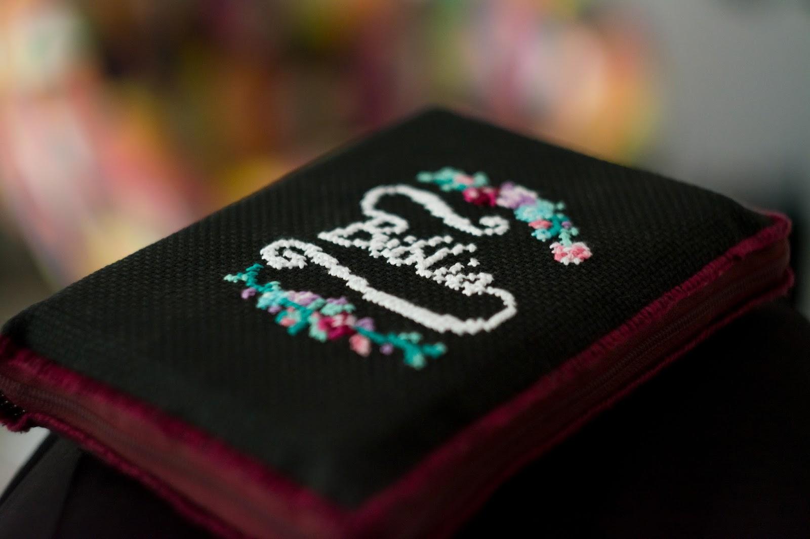haftowana okładka na Biblię diy
