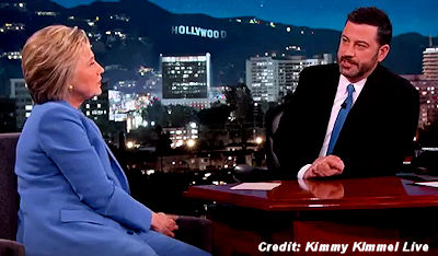 Hillary Clinton says She'll Make UFO Files Public as President on Jimmy Kimmel Live