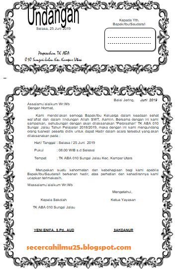 Contoh Undangan Perpisahan : contoh, undangan, perpisahan, Contoh, Undangan, Perpisahan, Terbaru, Secercah
