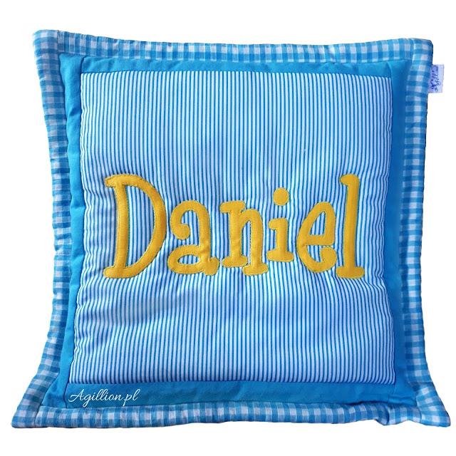 poduszka patchwork z imieniem