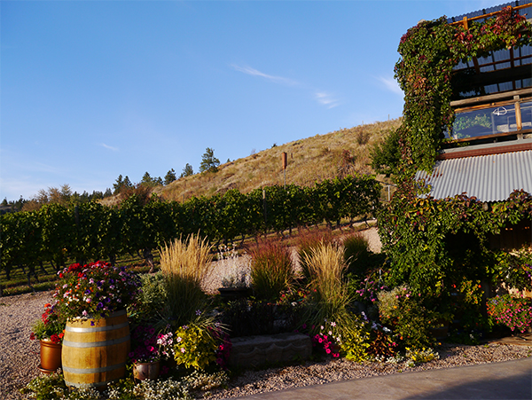 Exterior of Hillside Winery & Bistro in Naramata Bench, Okanagan, BC wine country