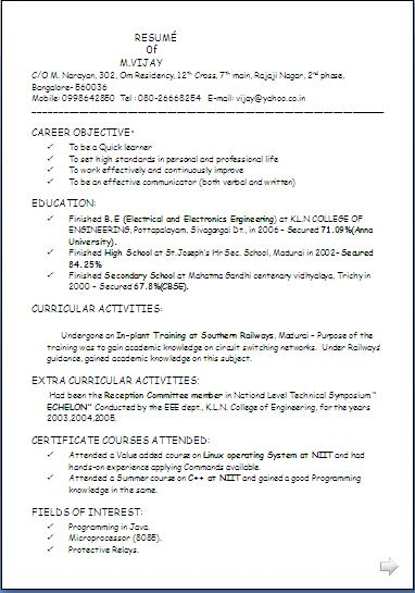 biodata for job application free download curriculumvitaes