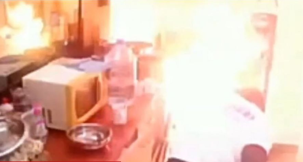 BBCameroon housemates flee as house almost goes up in flames (video)