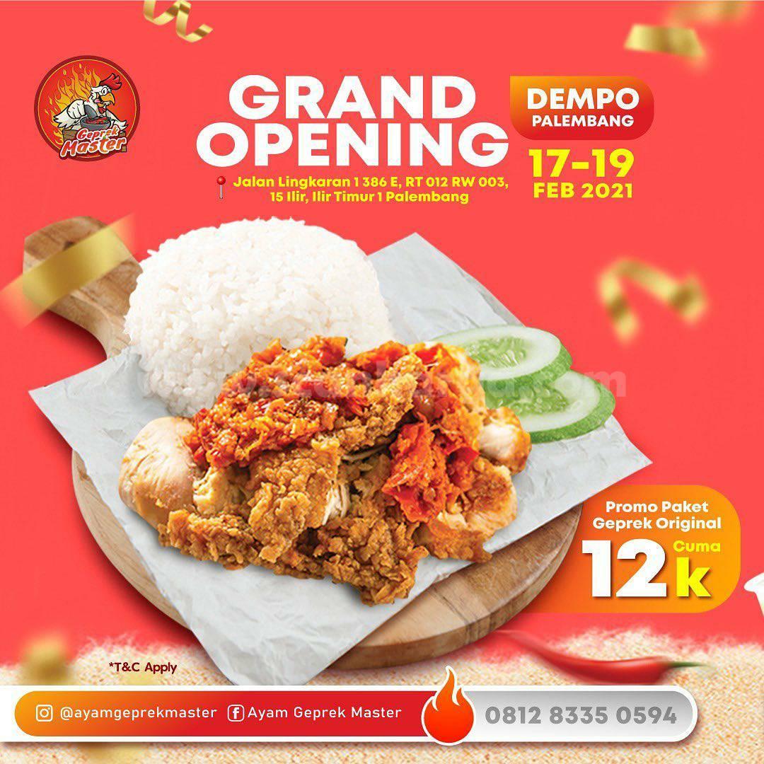 Ayam Geprek Master Dempo Palembang Opening Promo Paket Original cuma Rp 12K