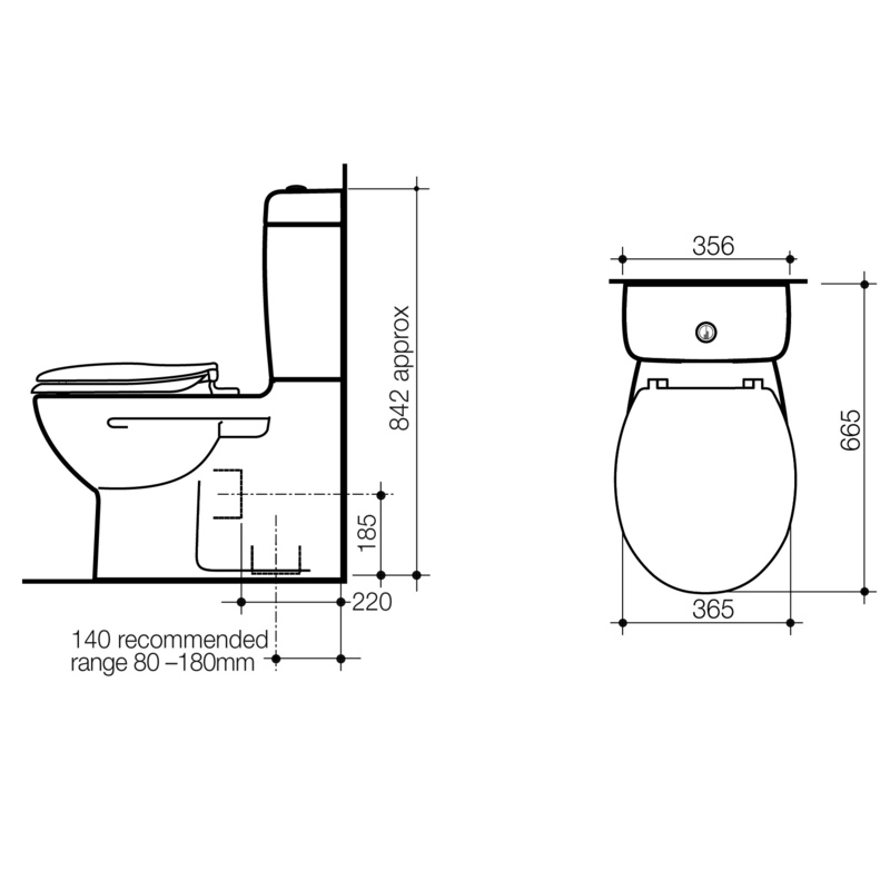 Modecor Toilet Suites Caroma Opal Wall Faced Toilet Suite