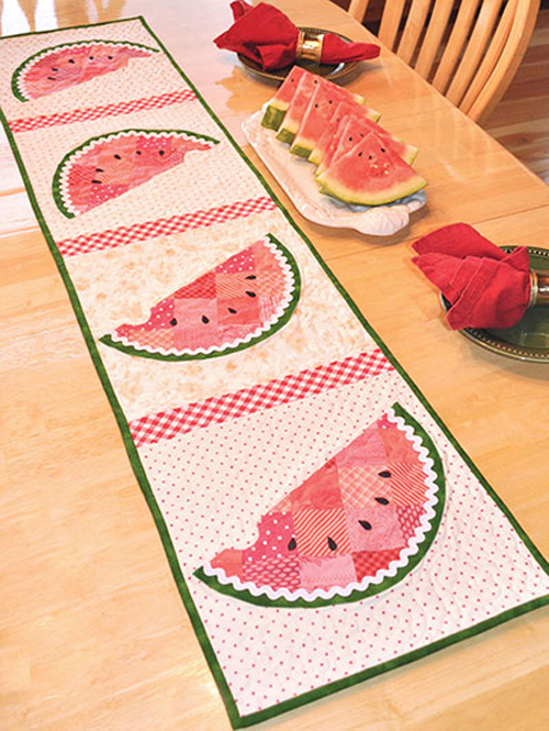 Patchwork Watermelon Table Runner - Quilt Pattern
