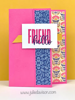 4 Easy Card Layouts with Stampin' Up! Sweet Symmetry Designer Paper ~ 2021-2022 Annual Catalog ~ Double Wonder Card Templates ~ www.juliedavison.com #stampinup
