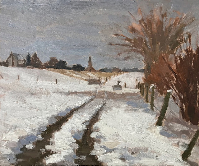 #316 'Tracks Through the Snow 10×12″