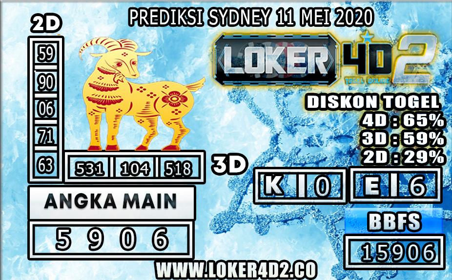 PREDIKSI TOGEL SYDNEY LOKER4D2 11 MEI 2020