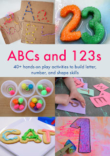 My preschooler loves these activities! She's learning her numbers and alphabet, and I'm saving time.