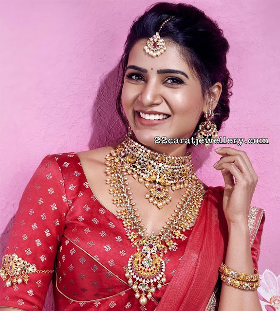 Samantha in Pachi Choker and Haram