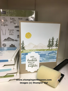 Stampin' Up Waterfront Everyday Label Punch Sponge Brayer