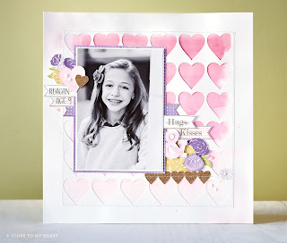 CTMH Valentine's Day Scrapbook Layout