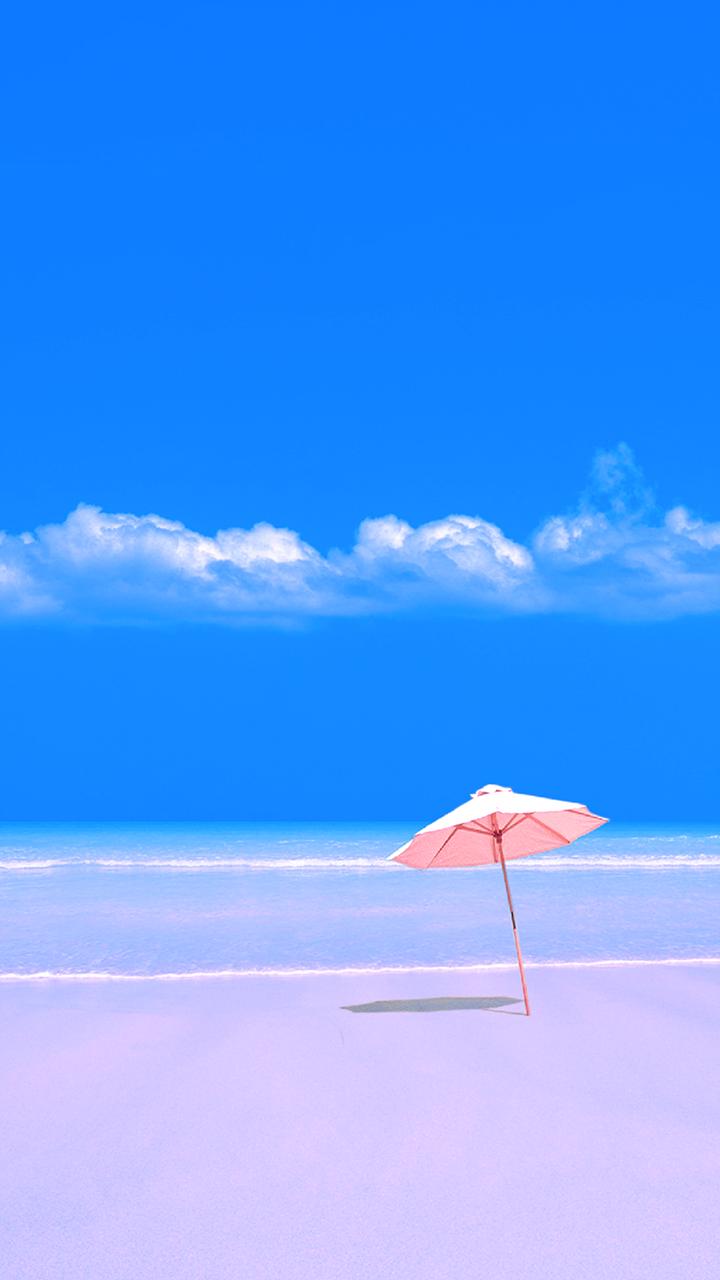 Free Wallpaper Phone: Beach Umbrella Wallpaper Samsung Galaxy J7