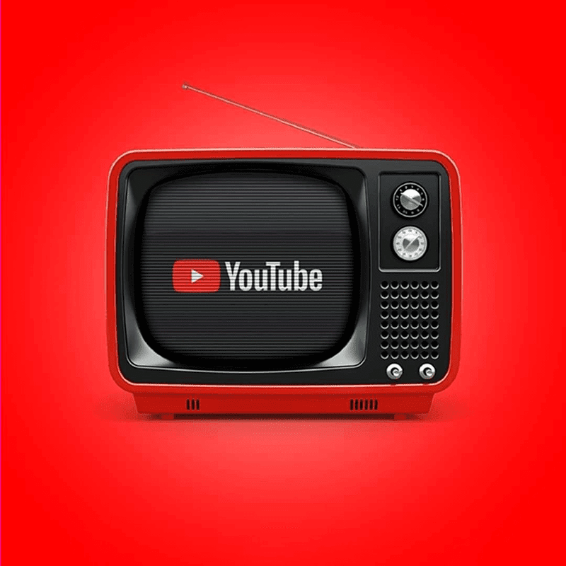 YouTube as a black and white television