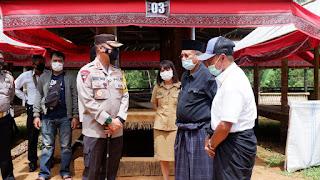 2 Epsta Rambu Solo' di Sangalla Dihentikan Kapolres dan Satgas Covid-19 Tana Toraja
