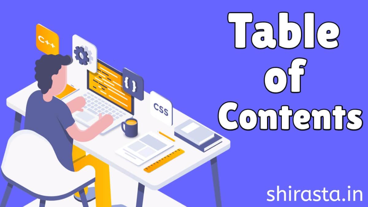 अपने ब्लॉग पोस्ट में Table of Contents कैसे Add करे-