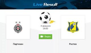 Партизан – Ростов смотреть онлайн бесплатно 04 февраля 2020 прямая трансляция в 18:00 МСК.