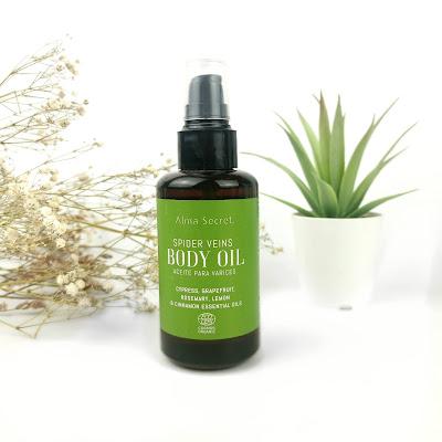 El body oil para varices de ALMA SECRET
