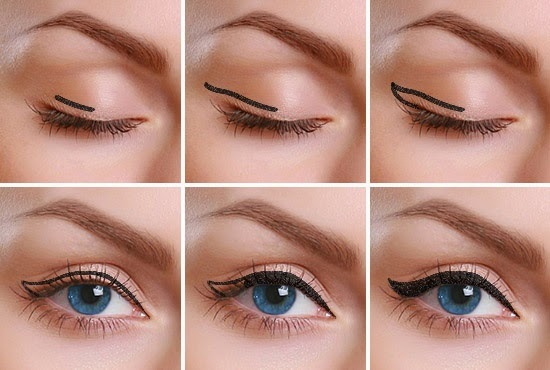 How to apply liquid eyeliner step by step | Nail Art and ...