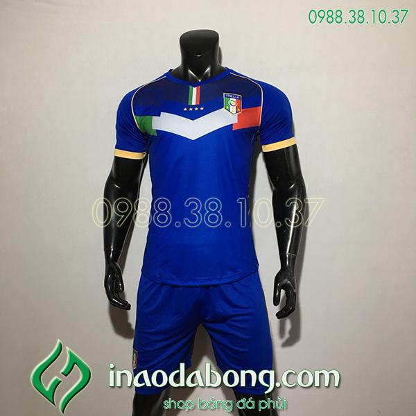 Áo Bóng Đá Đội Tuyển Italia Xanh 2020 Đẹp