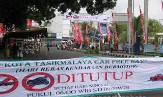 Suasana Car Free Day Di Tasikmalaya