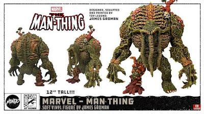 San Diego Comic-Con 2021 First Look: Man-Thing Painted Soft Vinyl Figure Prototype by James Groman x Mondo x Marvel Comics