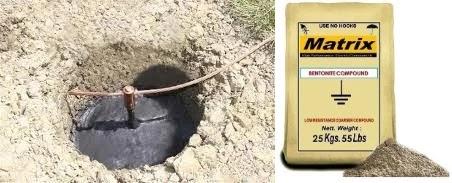 استخدام مادة البنتونايت Bentonite في تقليل مقاومة الأرضي