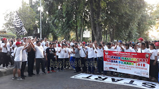 Ketua KPU Bali lepas jalan sehat didampingi PLT Wali kota Denpasar dan Ketua KPU Kota Denpasar
