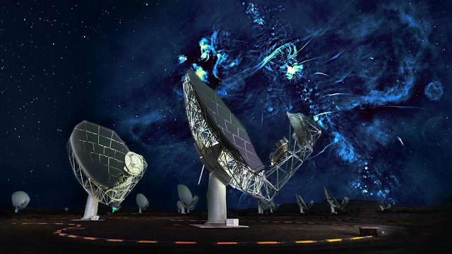 samanyolu merkezinde keşfedilen büyük radyo kabarcıkları