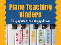 Piano Teaching Organization with Piano Binders: heidispianonotes.blogspot.com Note Reading Ear Training Rhythm Theory Technique