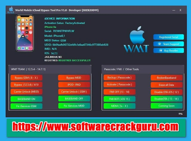 Download World Mobile iCloud Bypass Tool V1.8 Pro
