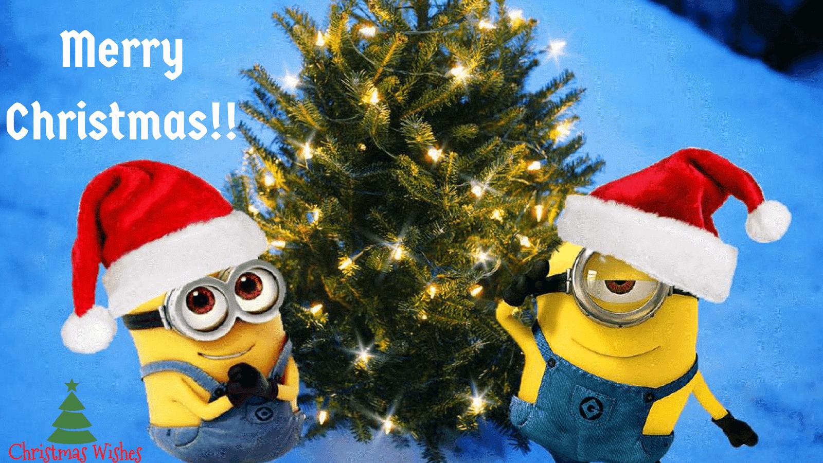 Minions Christmasminions Christmas Wallpaper Merry