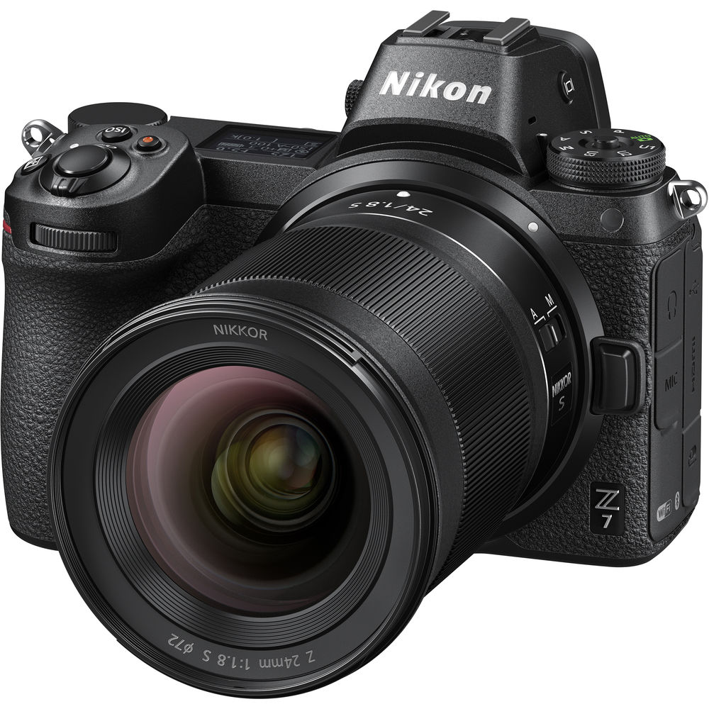 Объектив Nikkor Z 24mm f/1.8 S с камерой Nikon Z7
