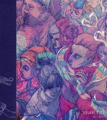 """couverture de """"SQUARE EYES"""" de Anna Mill et Luke Jone chez Delcourt"""