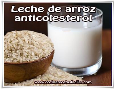 Leche de arroz anti-colesterol✅Si padeces de colesterol alto puedes optar por esta receta para beneficiarte con estas virtudes nutricionales, te explicaré cómo preparar la leche de arroz.