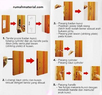 Cara Memasang Kunci Pintu Kayu
